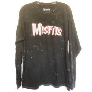 Misfits Long Sleeve Black Punk T Shirt